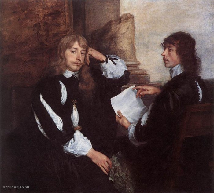 Schilderij Thomas Killigrew en (?) William, Lord Croft